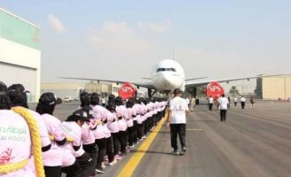 Dubai Police Female Officers Set World Record by Pulling an Airplane