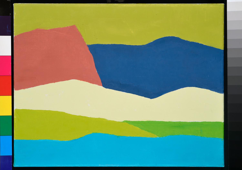 Etel Adnan, Paysage 2, 2014. Huile sur toile, 32 x 41 cm (2)