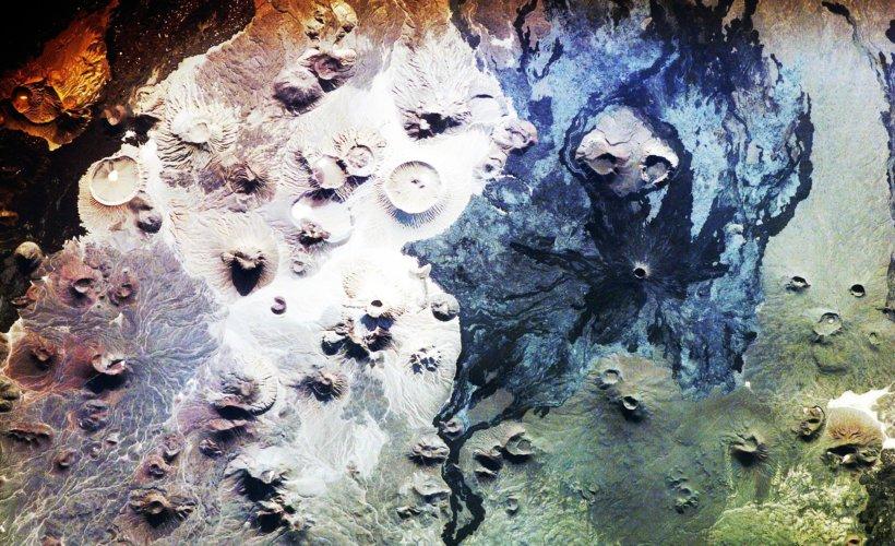 Vue de Harrat Khaybar (Arabie saoudite) depuis l'Espace © NASA