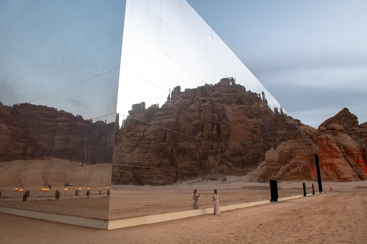 Maraya, a building covered with mirrors and located in the Mada'in Saleh desert