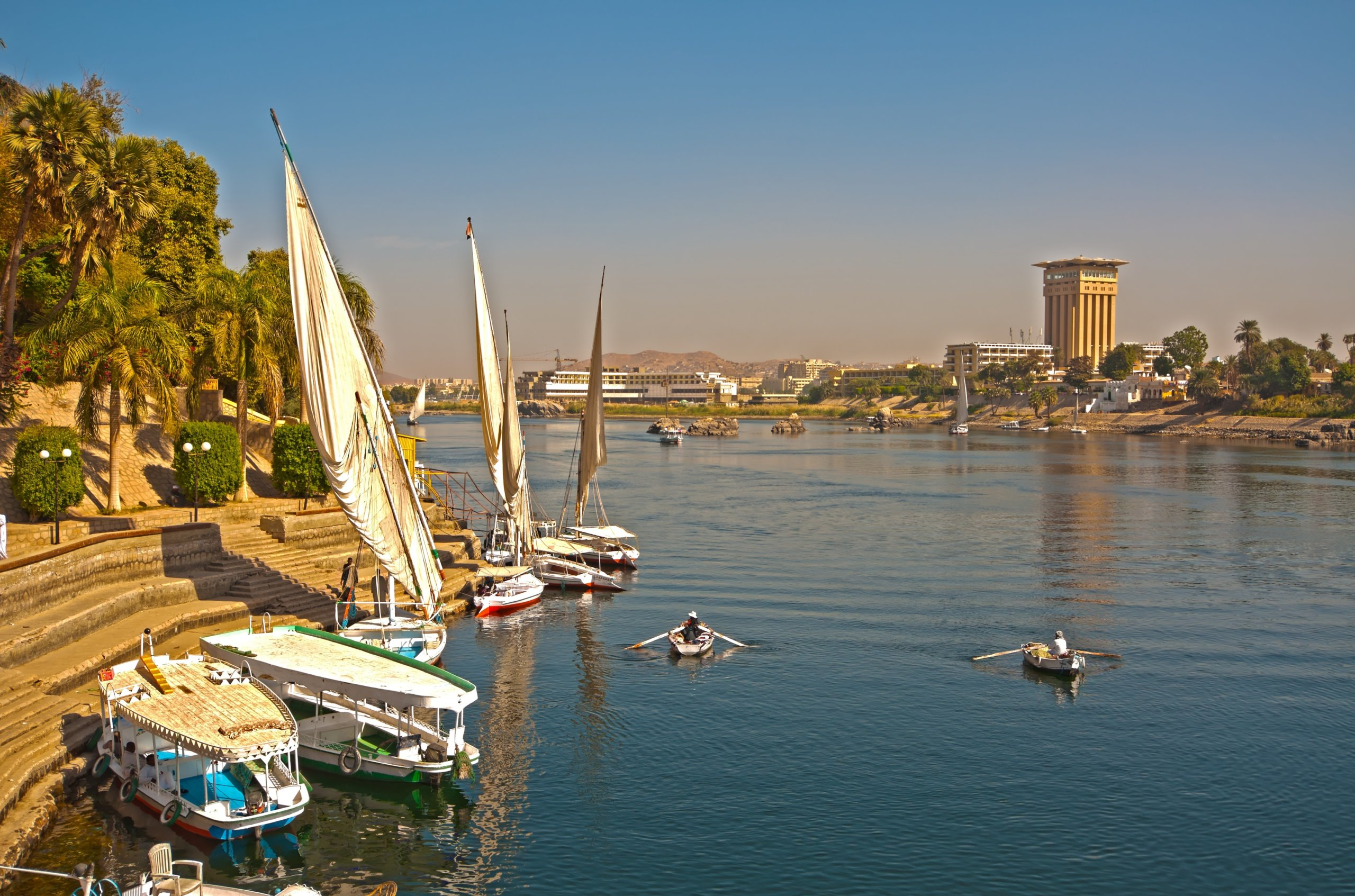 Le Nil traversant Assouan © Frédéric Roubieu