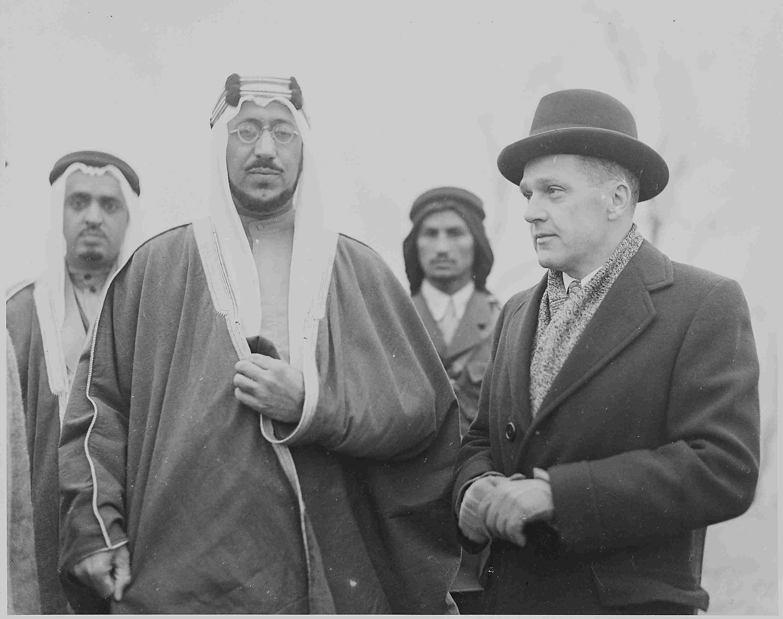 Le Prince héritier Amir al Saoud lors de sa visite aux Etats-Unis en 1995