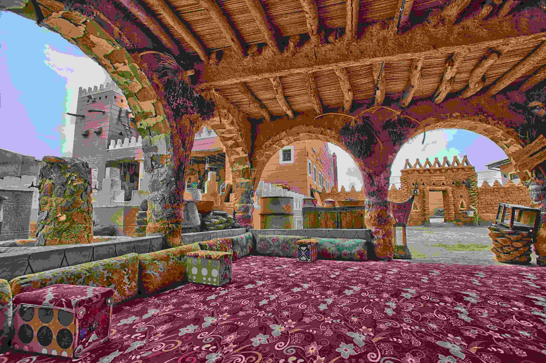 Les majlis ou salon typiques saoudiens