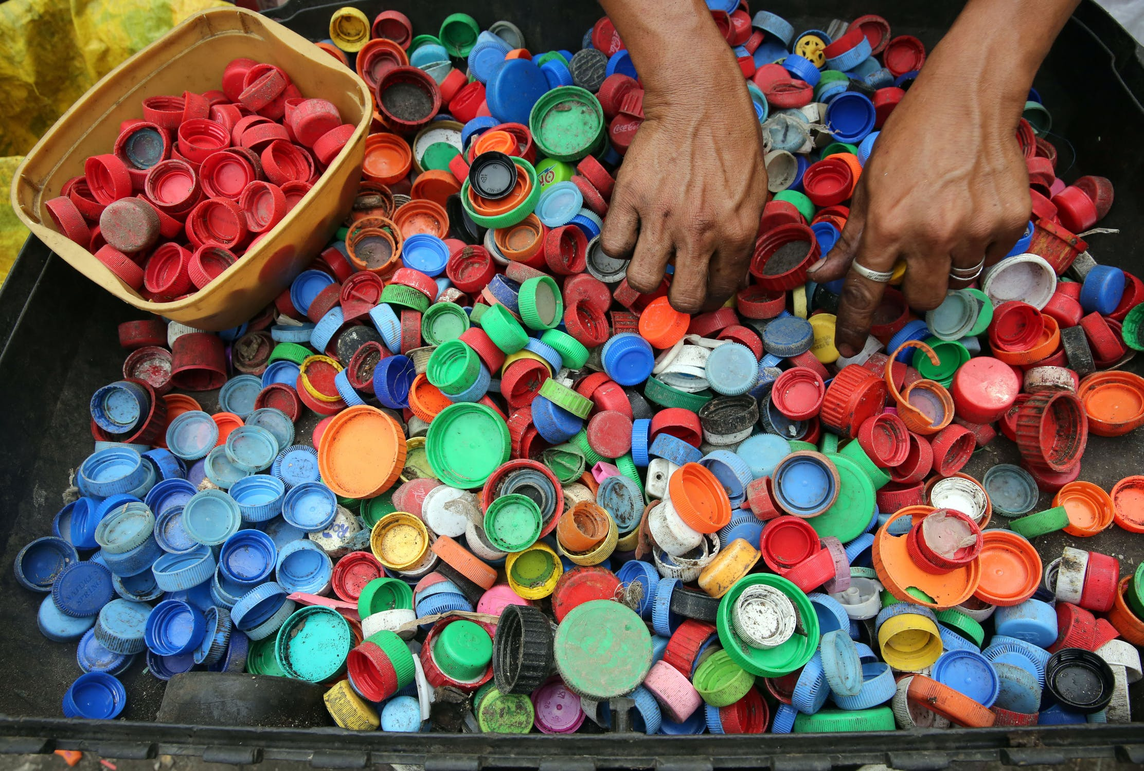 A Jordan initiative collect plastic bottles caps to support people with disabilities