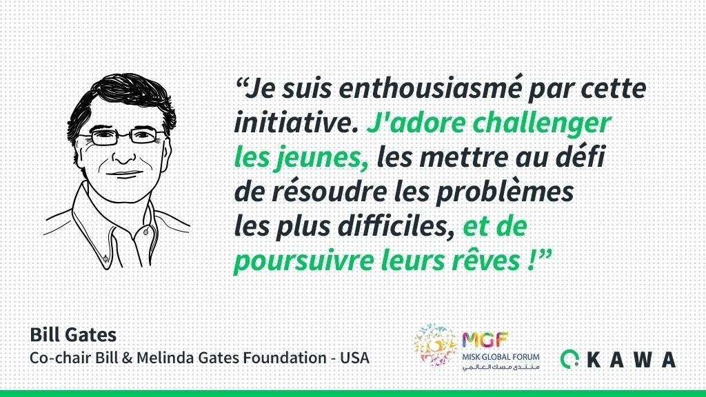 Bill Gates au MiSK Global Forum