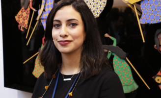Sarah Al Abdali at the YIA Paris.