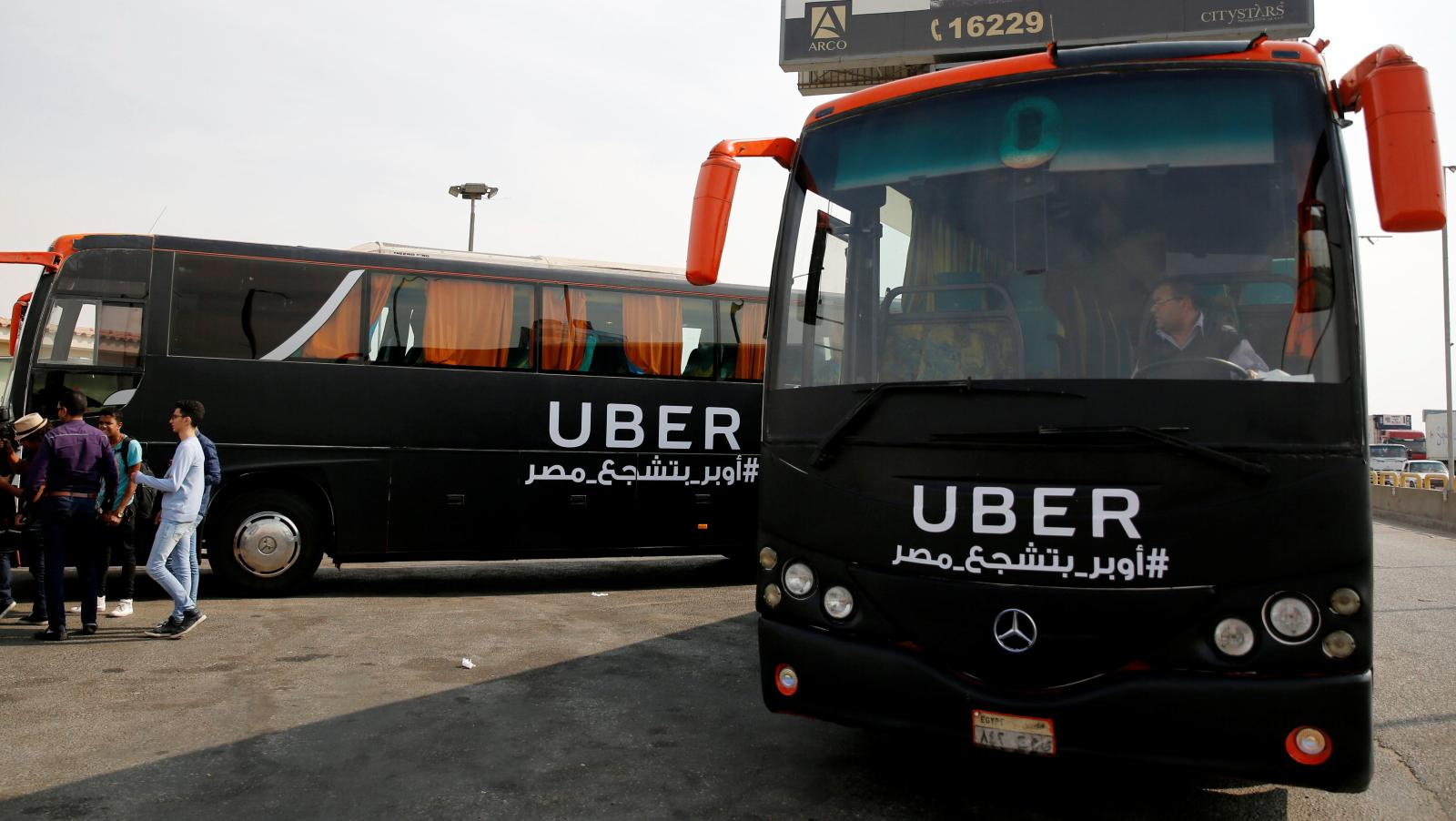 In Cairo, Egypt, Uber Launches a Minibus System to Facilitate Traffic Flow