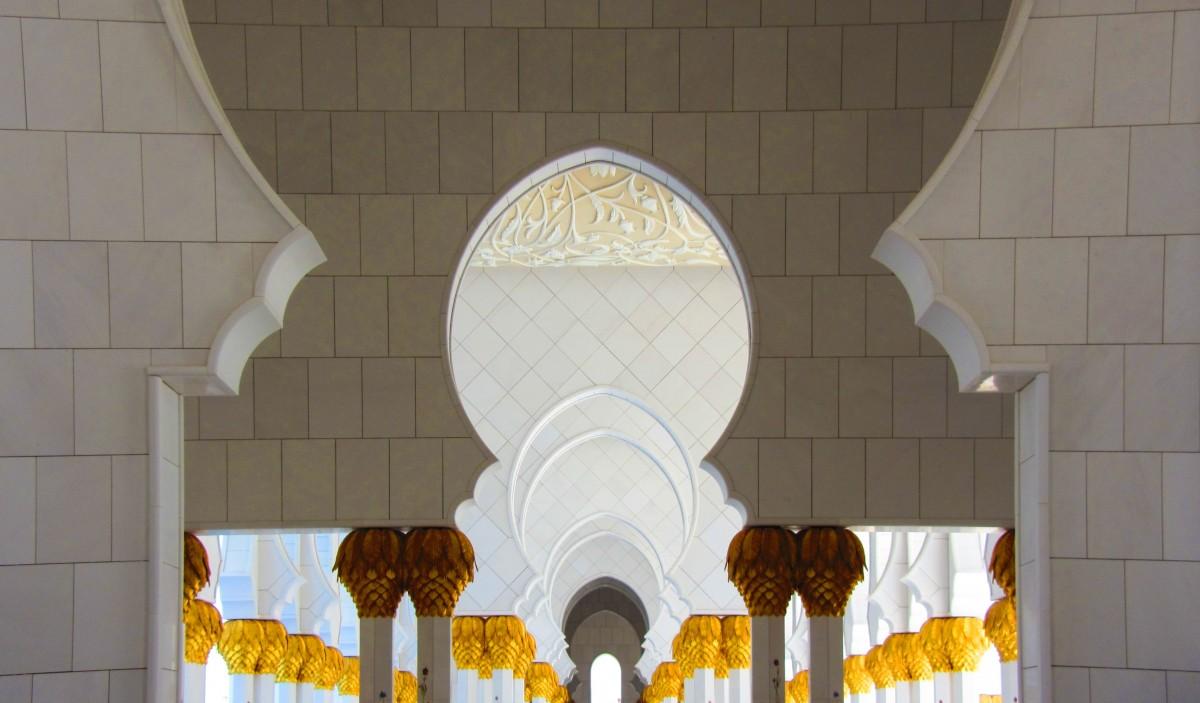 La mosquée du Sheikh Zayed à Abu Dhabi